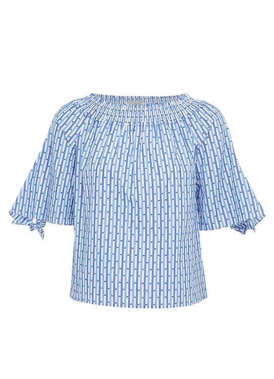 Maison Scotch Top Off Shoulder