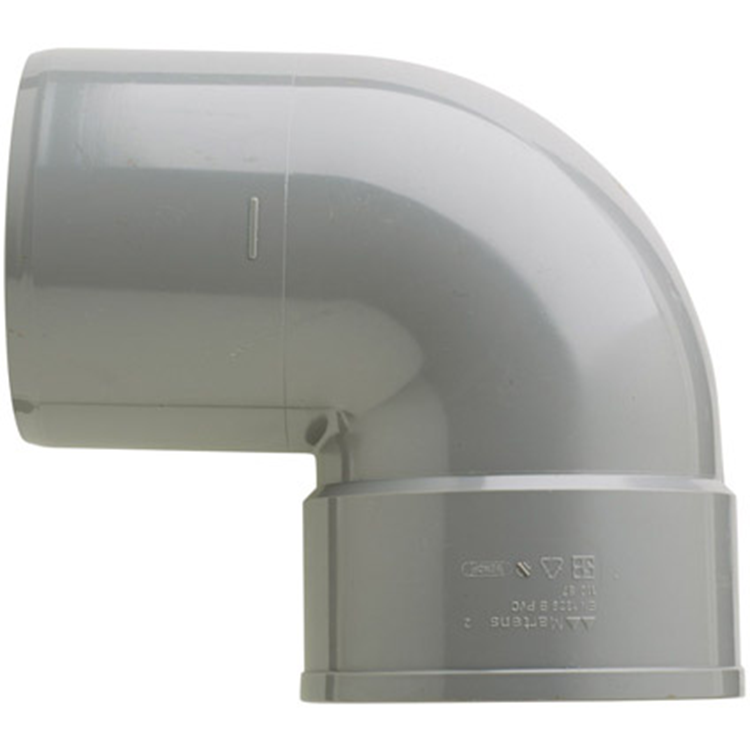 Martens PVC bocht 110mm 1xlijm 87gr grijs