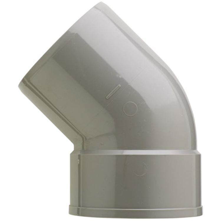 Martens PVC bocht 110mm 1xlijm 45gr grijs