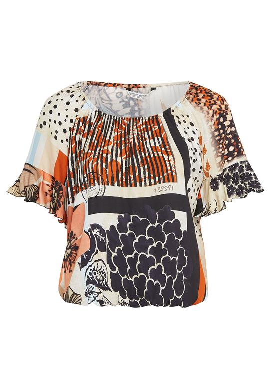 Summum T-Shirt SS Patchwork
