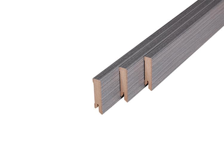 160 MDF Muurplint Bedrock Oak (15 x 60 mm. Lengte: 240 cm)