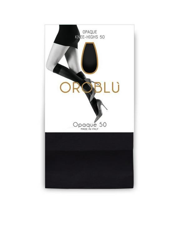 Oroblu mibas opaque kneehigh 50 den lycra