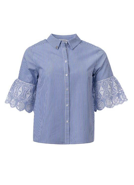 Amsterdams Blauw Blouse Embriodery