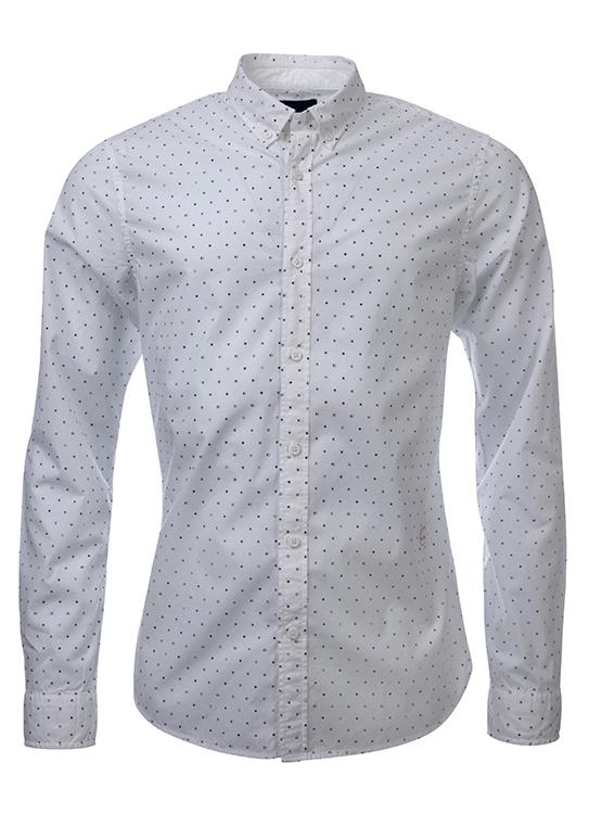 Amsterdams Blauw overhemd printed