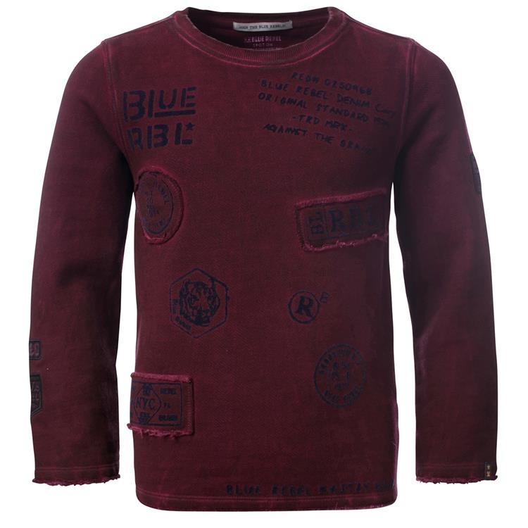 Blue Rebel SPOT ON - sweater crew neck - Redwood - dudes