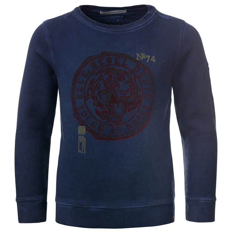 Blue Rebel SPOT ON - sweater crew neck - Ink - dudes