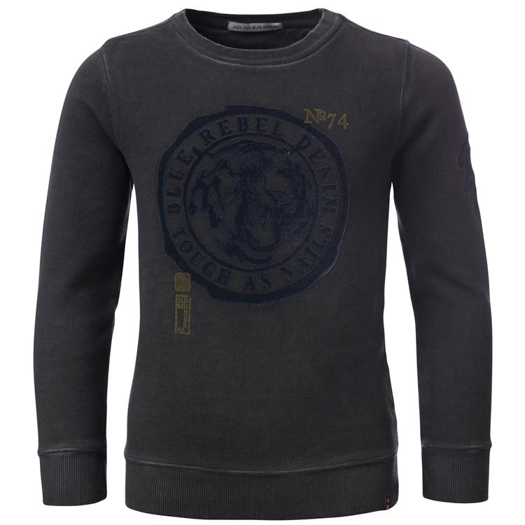 Blue Rebel SPOT ON - sweater crew neck - Charcoal - dudes