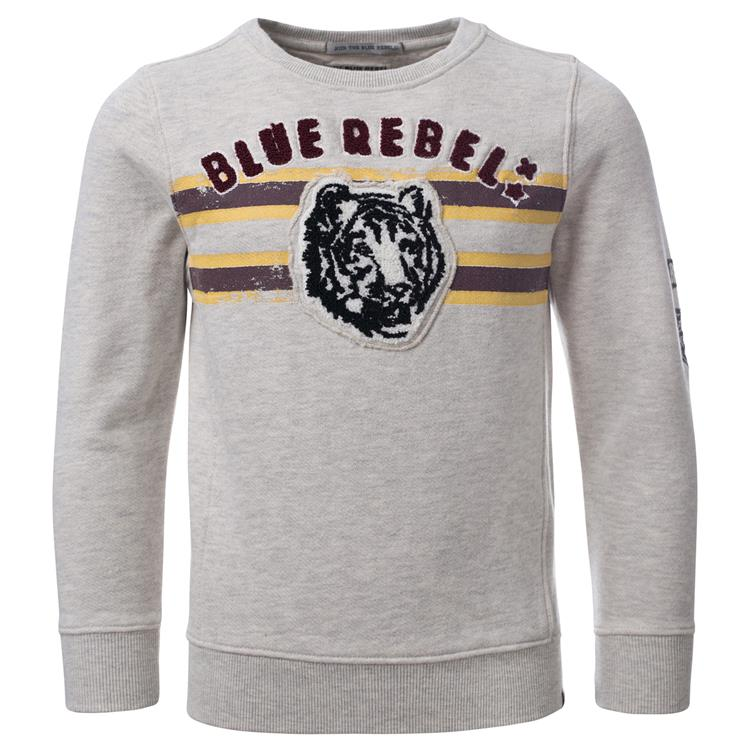 Blue Rebel SPOT ON - sweater crew neck - Light grey melange - dudes