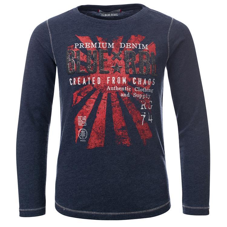 Blue Rebel SPOT ON - T-shirt l.sl. - Ink - dudes