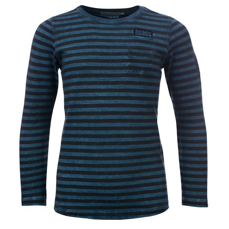 Blue Rebel SPOT ON - T-shirt l.sl. - Iron blue - dudes