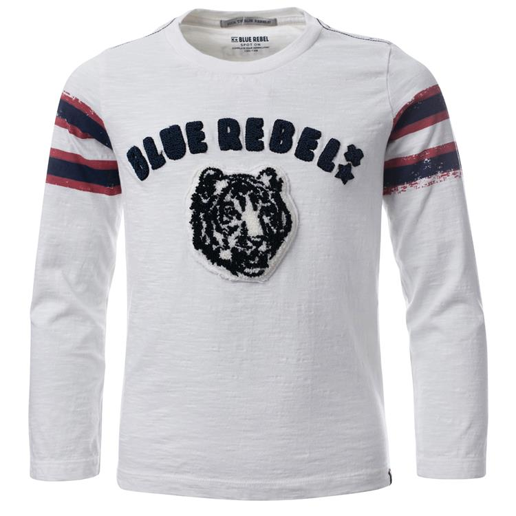 Blue Rebel SPOT ON - T-shirt long sleeve - Off white - dudes