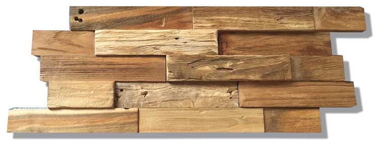 Houten Wandpanelen | Indo Deco Wall Teak | Nature