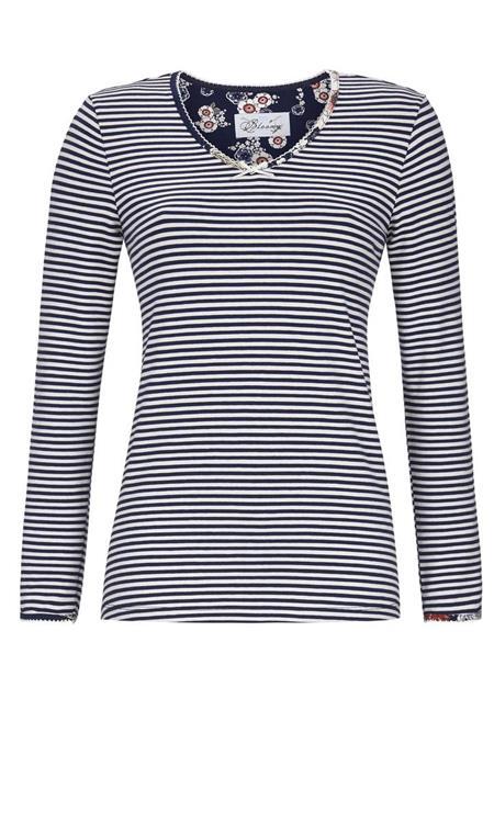 Bloomy pyjama shirt met lange mouw