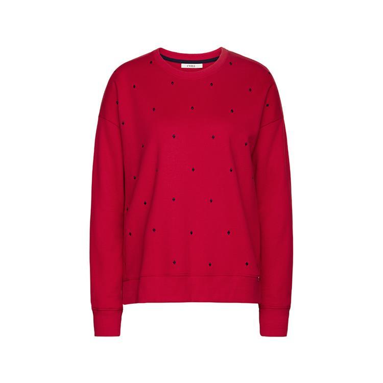 Cyell Sweater lange mouw American Fleece Scarlet