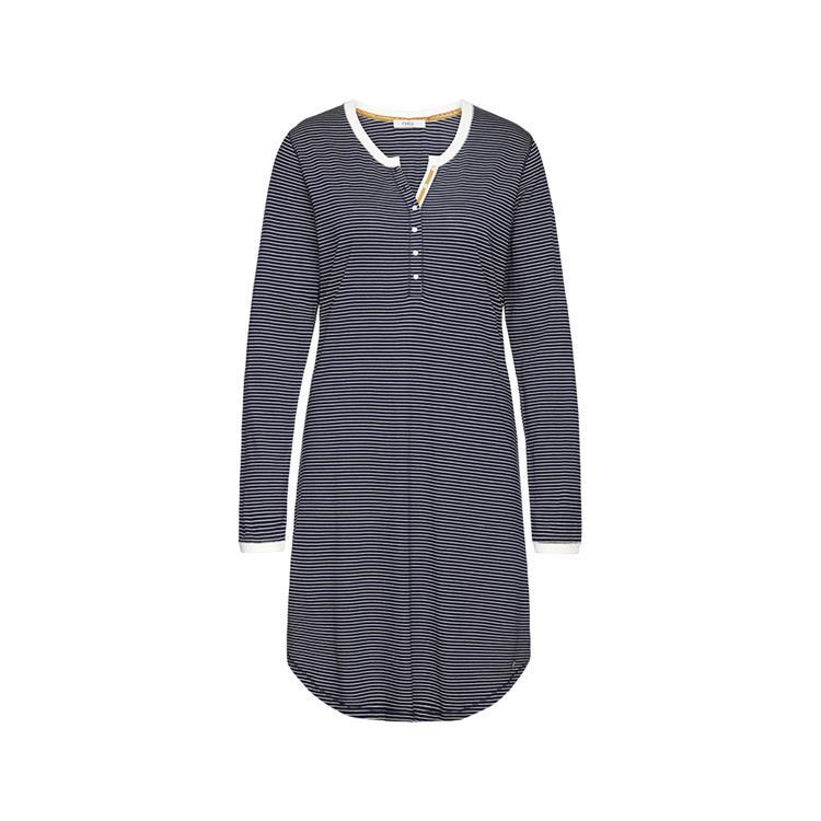 Cyell jurk lange mouw Stripe Ochre