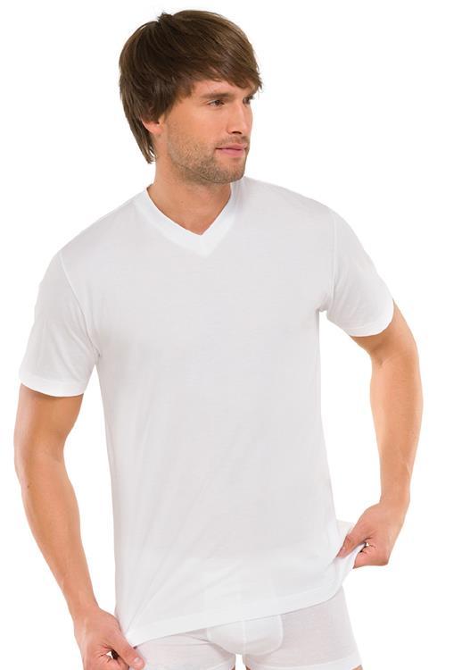 Schiesser American T-shirt met V-hals 2-pack