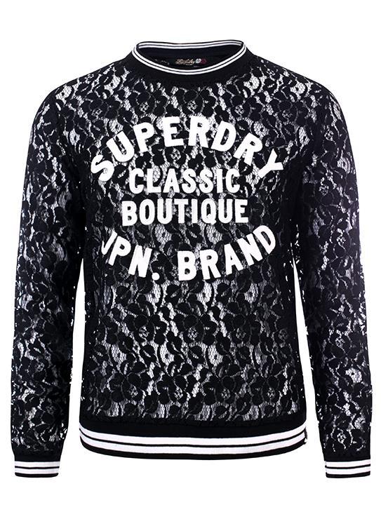 Superdry T-Shirt LS Lace