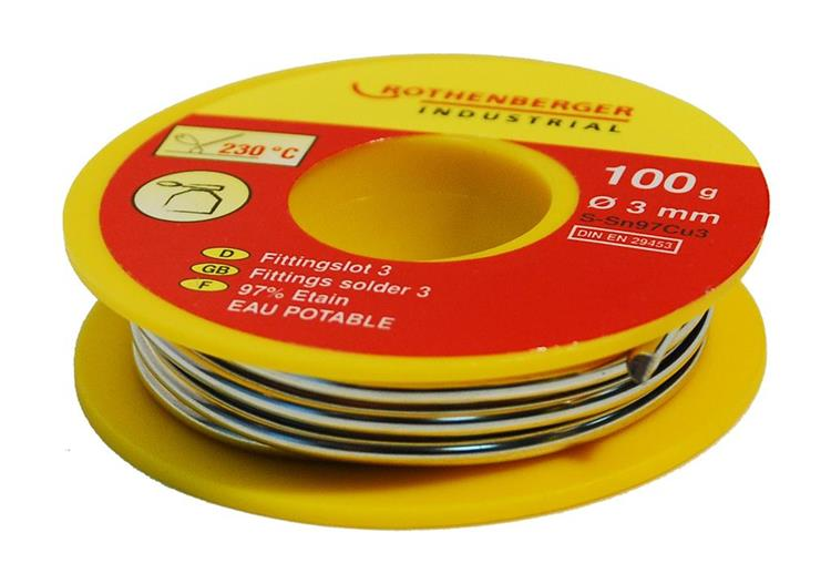 Rothenberger Fittingsoldeer 3, 100 gram