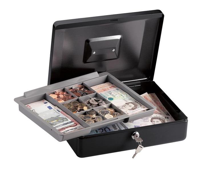 Masterlock geldkist met tray en handvat