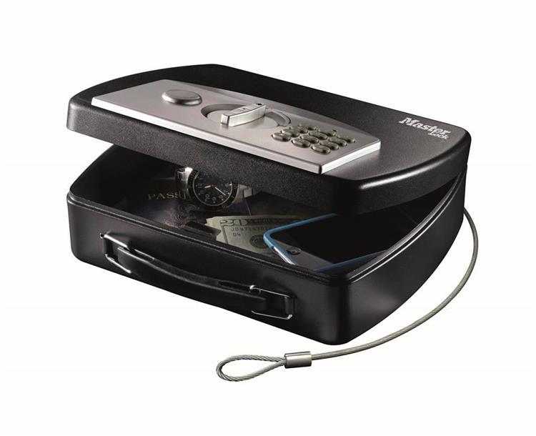 Masterlock draagbare digitale kluis met kabel