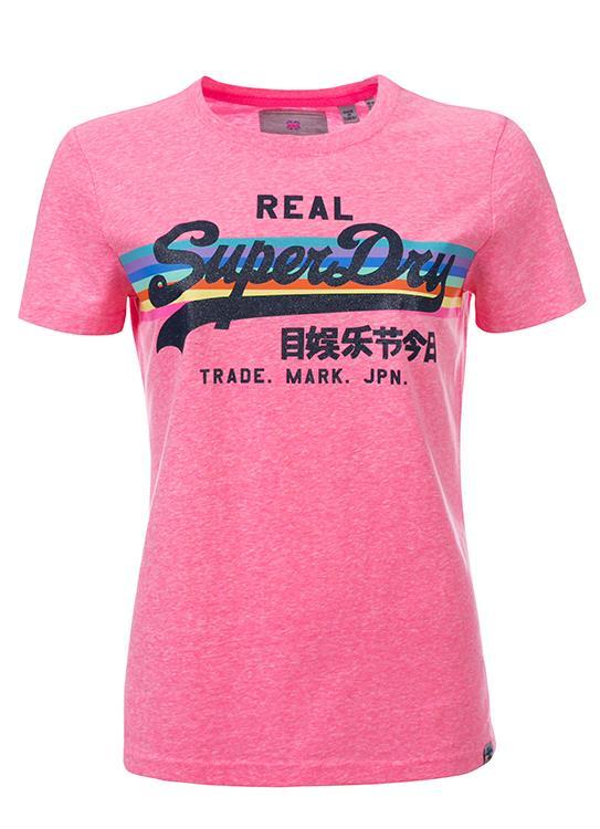 Superdry T-Shirt Retro Rainbow