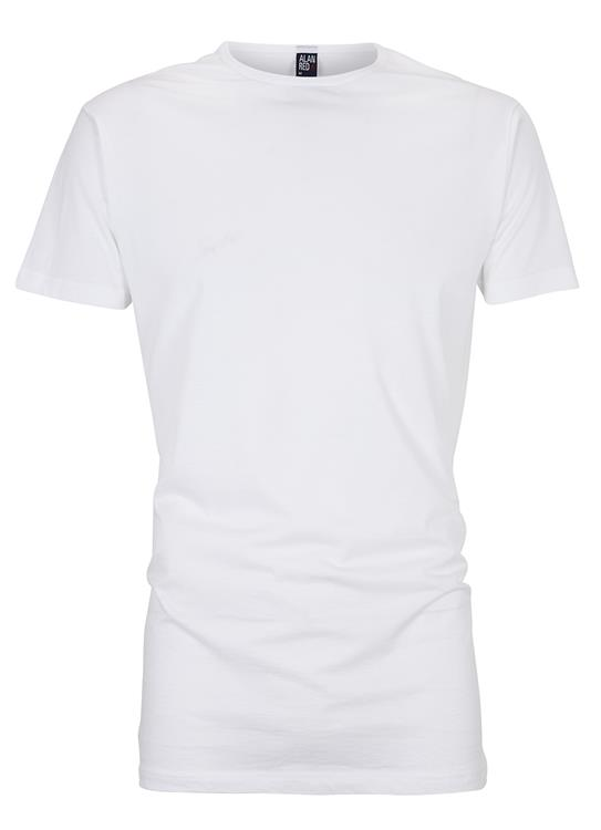 Alan Red T-shirt long Derby 2-pack