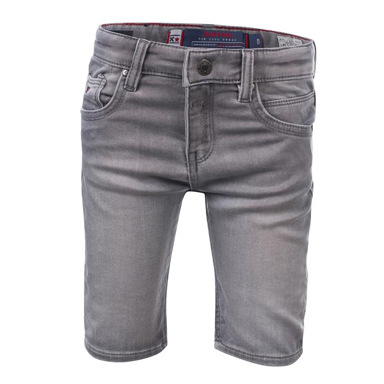 Blue Rebel CAVE - skinny fit shorts - Grey wash - dudes