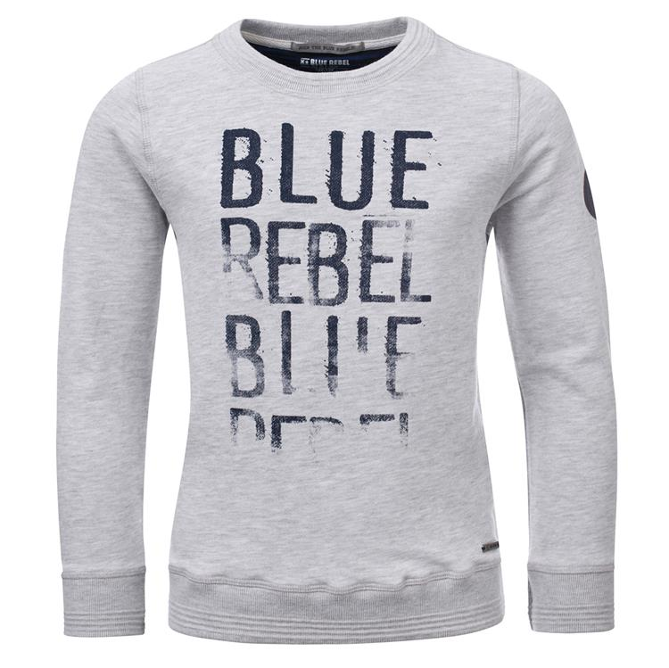 Blue Rebel  -  sweater - Off white melange - dudes