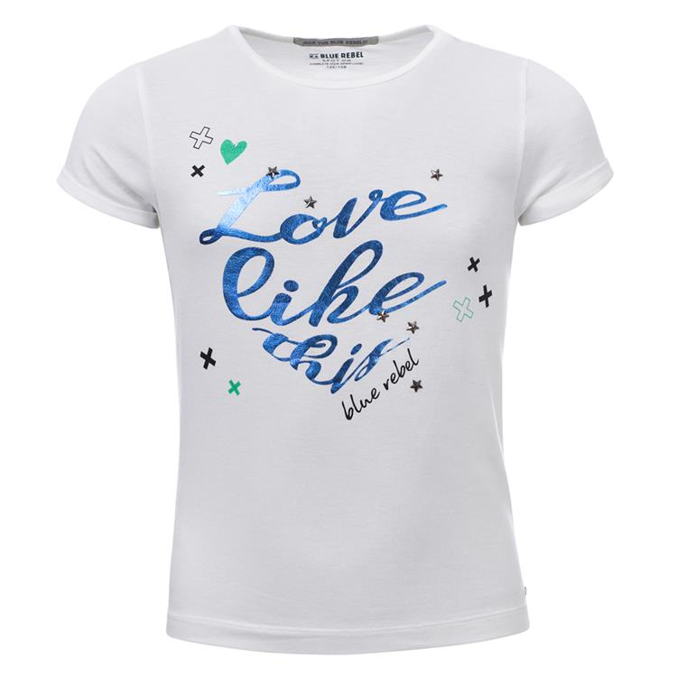 Blue Rebel  -  T-shirt short sleeve - White - betties