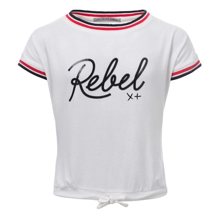 Blue Rebel  -  T-shirt short sleeve - White - betties