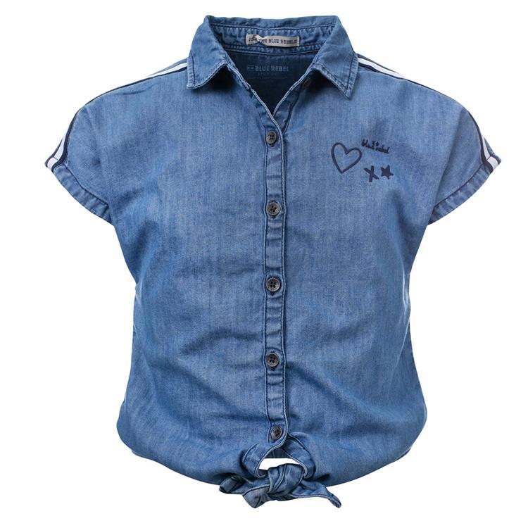 Blue Rebel  -  blouse - Chambray - betties
