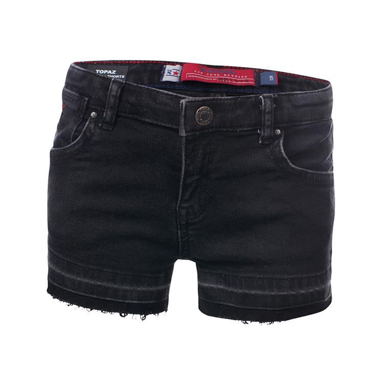 Blue Rebel TOPAZ - high rise shorts - Black wash - betties