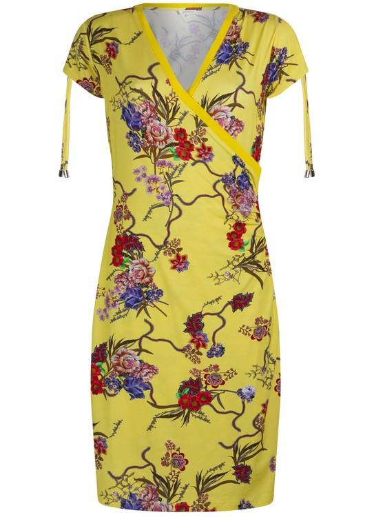 Tramontana Jurk Flower Print Yellow Wr