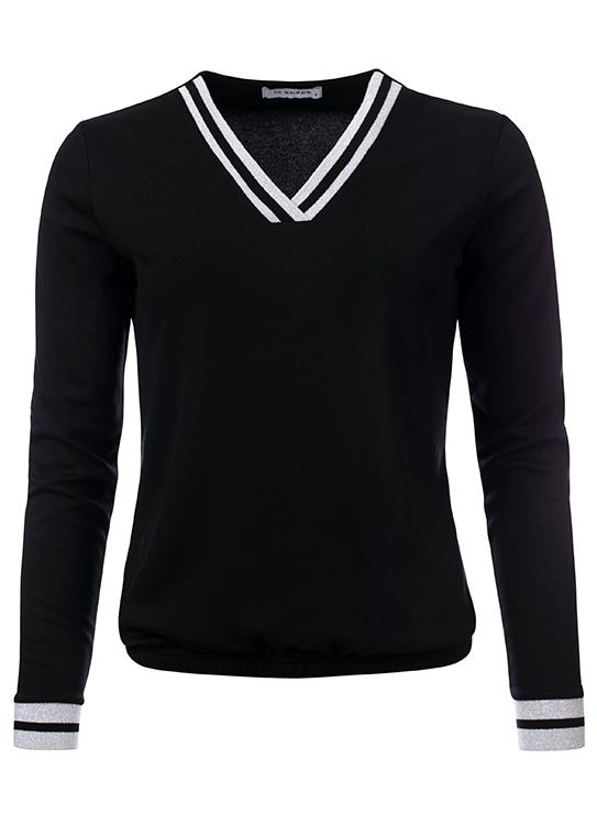 In Shape Top Ls V-neck