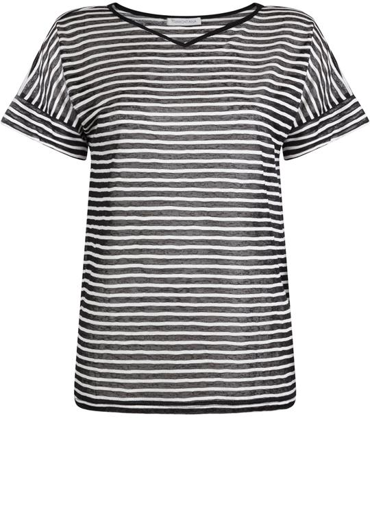 Tramontana T-Shirt Stripes Sweat Mix