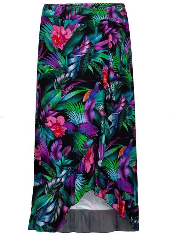 Tramontana Rok Tropical Print Black Wr