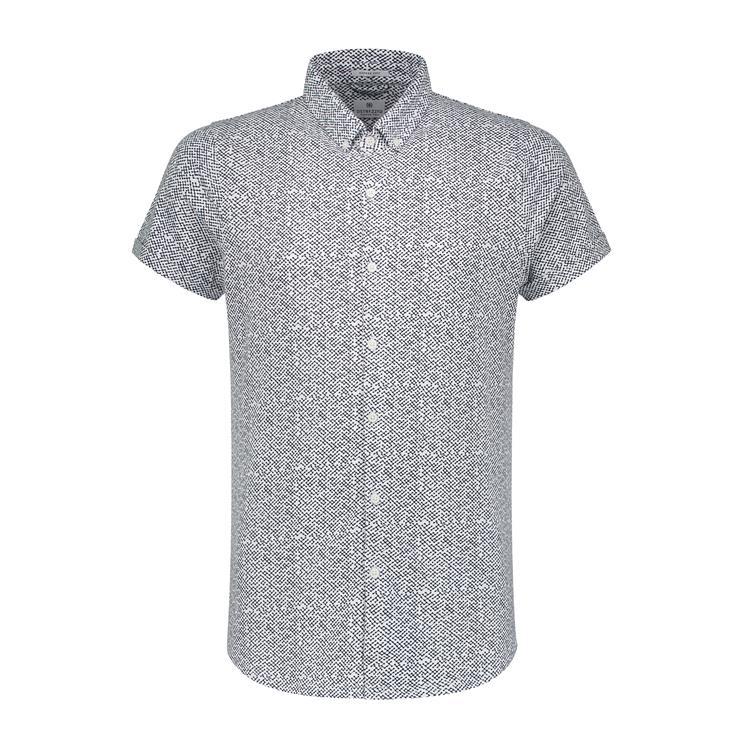 Dstrezzed Overhemd KM Universe Dot Melange Jersey