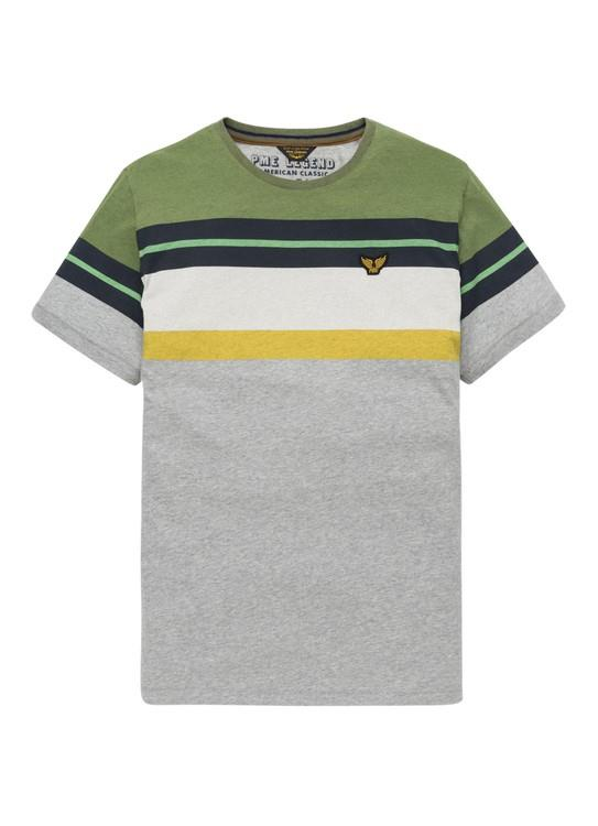 PME Legend T-Shirt KM Printed Stripe