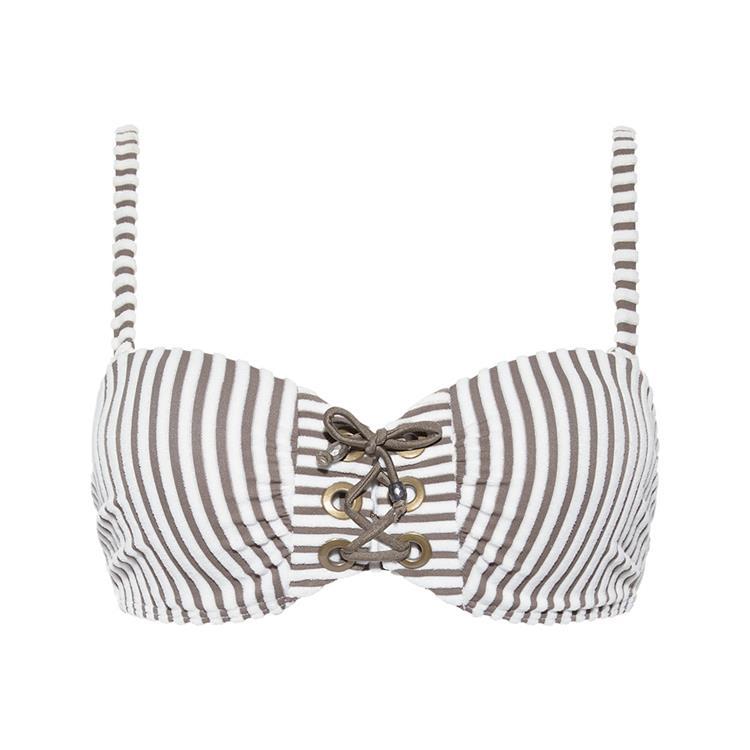 Beachlife bikini Taupe Stripe