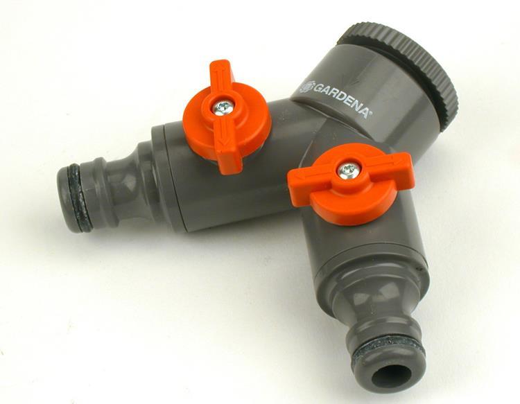 """Gardena 2-weg ventiel 26,5 mm (G 3/4""""), 21 mm (G 1/2"""")"""