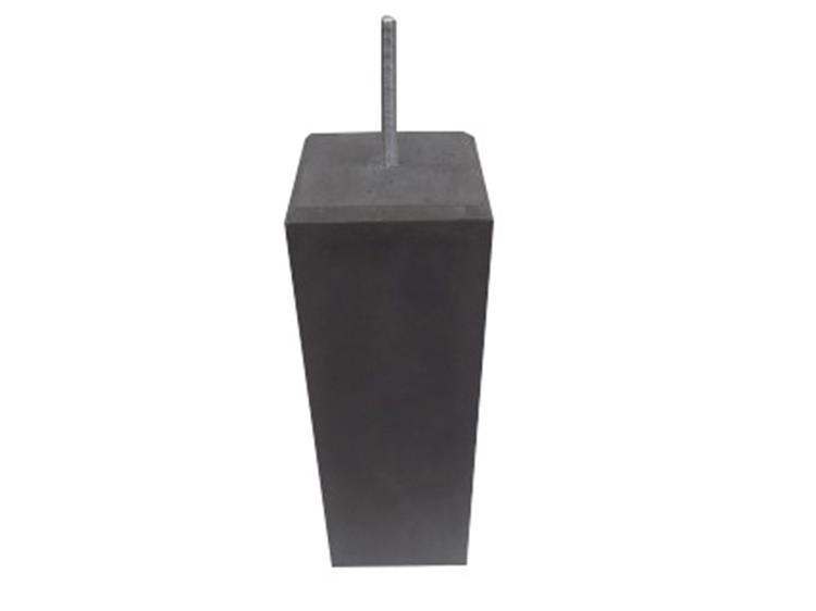 Betonpoer vierkant 17/17cm m-16 draad  incl. stelpoot
