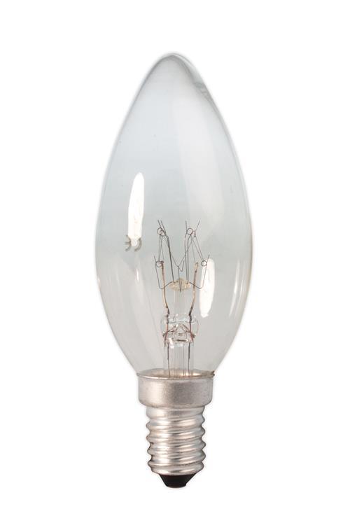 Kaarslamp 240V 10W 55lm E14 helder