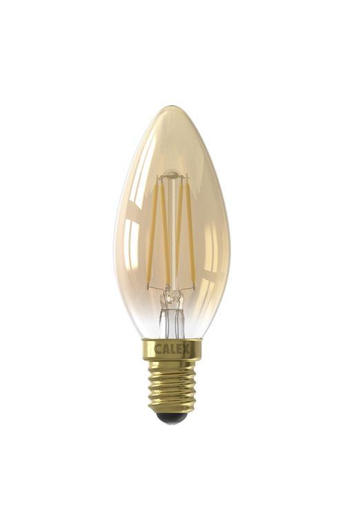 LED Filament Kaars 3,5W 200lm 14 Goud 2100Kdim