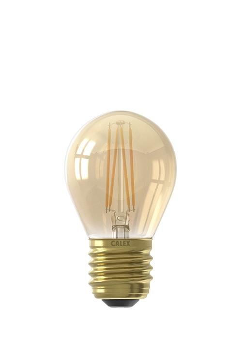 LED filament Kogellamp 3,5W E27 P45 Goud Dim.