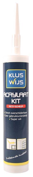 KlusWijs Acrylaatkit Wit anti-scheur 310 ml