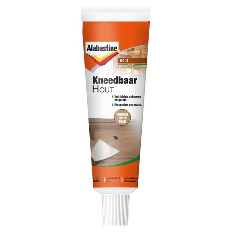 Alabastine kneedbaar hout m-ei/teak 50 ml