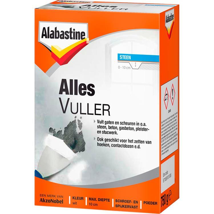 Alabastine allesvuller poeder wit 750 gr