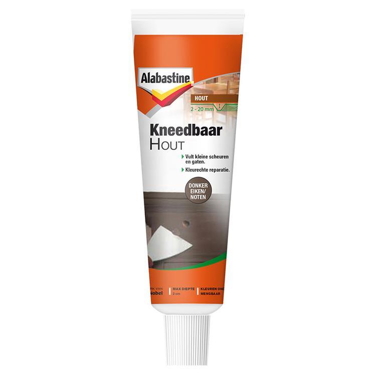 Alabastine kneedbaar hout donkereik./noten 50 ml