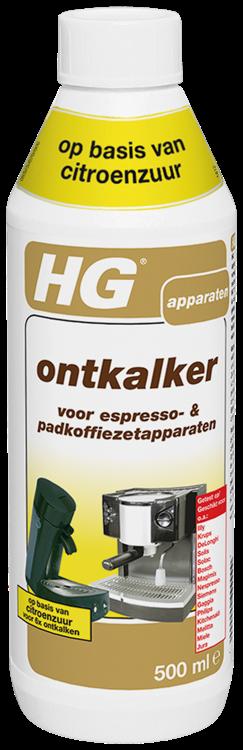 HG ontkalker voor espresso- & padkoffiezetapparaten 500 ml