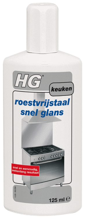 HG roestvrijstaal snel glans 125 ml